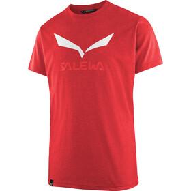 Salewa Solidlogo Dri-Release Camiseta manga corta Hombre, mountain red melange